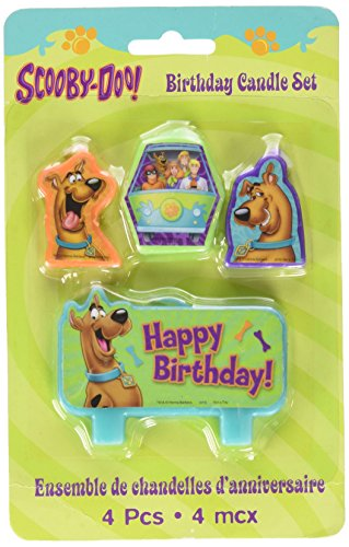 1 X scooby-doo birthday candle set (Scooby Doo Kids Costume)