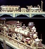 A Woodworking Scroll Saw Patterns and Instructions Plan to Build Your Own Iron Horse Train Model 48 Inches Long!