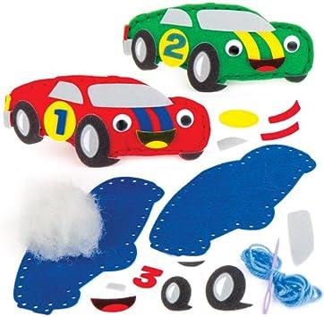 Kit da Cucito Macchinine da Corsa per Bambini da Confezionare