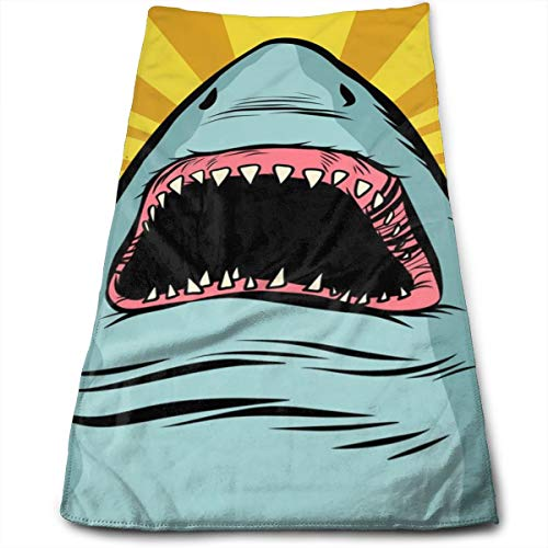 - SWATMOGI Shark Ocean Predator Marine Fish and Water Parks Face Towel,Hand Towel,Kitchen Towels-Dish 3D Design Pattern Towel,Towels for The Kitchen,Cleaning,Cooking,Baking,Dishwashing Towel 12x27.5in