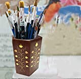 Special valentine day present, Wooden Pen Stand, Pen / Pencil Holder, Pen Stand and Office Desk Accessories Organizer, Pen and Pencil Holder Stationery Storage Box, 4 Inch