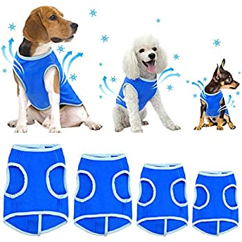 SELMAI Dog Swamp Cooler Vest Harness Evaporative Jacket Comfort Adjustable Breathable Cooling Coat for Small Medium Large Cat Shirt for Pet Walking Hunting Training Sport Outdoor Hiking in Summer M