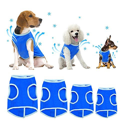 SELMAI Dog Swamp Cooler Vest Harness Evaporative Jacket Comfort Adjustable Breathable Cooling Coat for Small Medium Large Cat Shirt for Pet Walking Hunting Training Sport Outdoor Hiking in Summer M