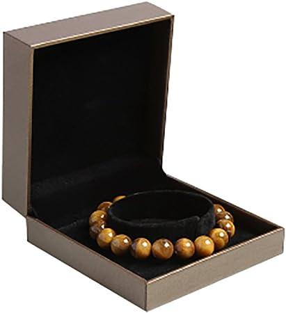 Emorias 1 Pcs Cajita para Bisuteria Original Mujer Joyero Caja de Almacenamiento Regalo Organizador de Collares Joyas Estuche - Oro: Amazon.es: Hogar