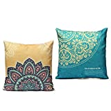 Us-DeSign Pillow :Luxury Flower Printed Pillowcase Square Throw decorative pillow cases Home Decor Sofa Car Back Cushion Cover 2 Stylies