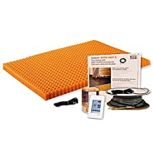 Schluter DITRA HEAT DHEKRT12040 26.7 SF 120V Kit Includes Touchscreen Programmable Thermostat,Heating cable, Ditra Heat sheets, 2 Floor sensors