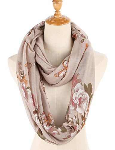 Infinity Scarfs for Women Loop Circle Fashion Scarf Floral Print Lightweight Scarves by RIIQIICHY (Image #4)'