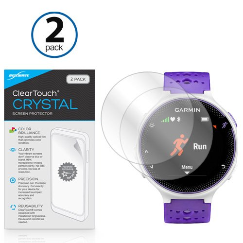 BoxWave Garmin Forerunner 230 ClearTouch Crystal (2-Pack) Screen Protector - Ultra Crystal Film Skin to Shield Against Scratches for Garmin Forerunner (Best Bw Watch Phones)