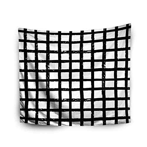 (Pamime Home Decor Tapestry for Halloween Abstract Geometric Pattern Plaid Trendy Textures Modern Wall Tapestry Hanging Tapestries for Dorm Room Bedroom Living Room (50x60 Inches(130x150cm))