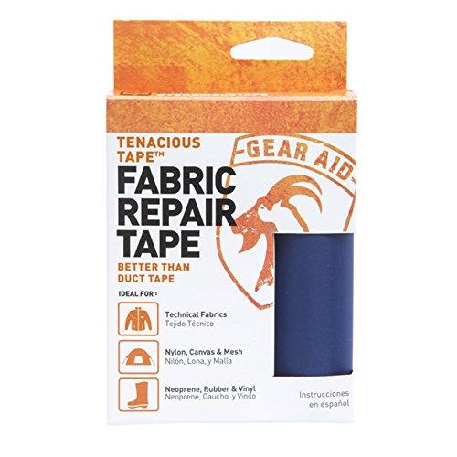 Waterproof Fabric Tape (Gear Aid Tenacious Tape for Fabric Repair, Dark Blue)