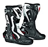 SIDI ST AIR BLACK/WHITE MOTORCYCLE SPORTS RACE BOOTS + FREE SOCKS new EC 45