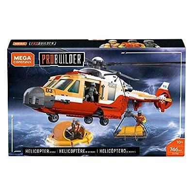 Mega Contstrux Probuilder Coast Guard Helicopter Resue Playset: Toys & Games