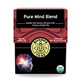 Organic Pure Mind Blend Tea – Kosher, Caffeine-Free, GMO-Free – 18 Bleach-Free Tea Bags