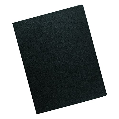 Fellowes 52115 Linen Texture Binding System Covers, 11-1/4 x 8-3/4, Black (Pack of ()