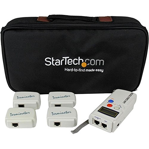 StarTech.com LANTESTPRO Professional RJ45 Network Cable Tester with 4 Remote Loopback Plugs