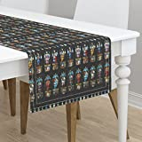 Table Runner - Brontes Haworth England Church Stained Glass Window Saints by Peacoquettedesigns - Cotton Sateen Table Runner 16 x 72
