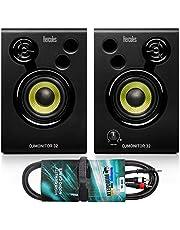 Hercules DJ Monitor 32 monitorboxen + keepdrum audiokabel RCA-jack 3m