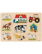 Goki 57908 - Steckpuzzle - Bauernhof I