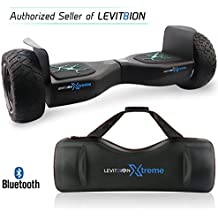 """Latest 2018 App-Enabled LEVIT8ION XTREME HUMMER 8.5"""" Off Road UL 2272 Hoverboard! 350w Dual Motor, All Terrain Tires, LED Lights, Bluetooth, Samsung battery & FREE Water Proof Carry Bag"""