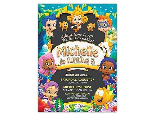 Bubble Guppies Birthday Party Invitations ANY AGE