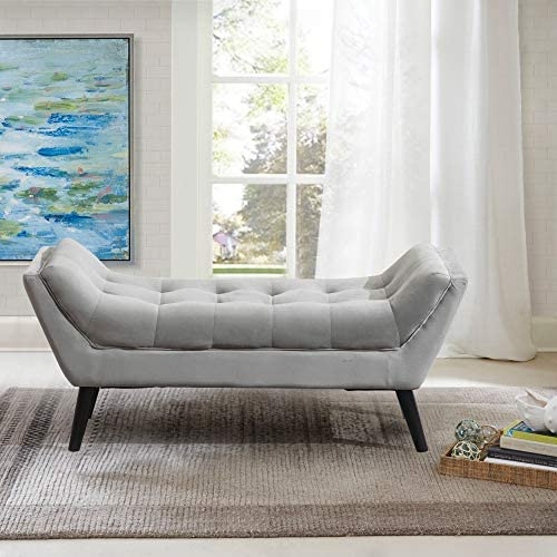 Tufted Upholstered Bench Fabric Ottoman Bench