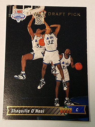 (SHAQUILLE O'NEAL 1992-93 Upper Deck #1 Draft Pick Rookie RC #1 Orlando Magic )