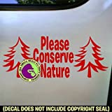 CONSERVE NATURE Vinyl Decal Sticker D