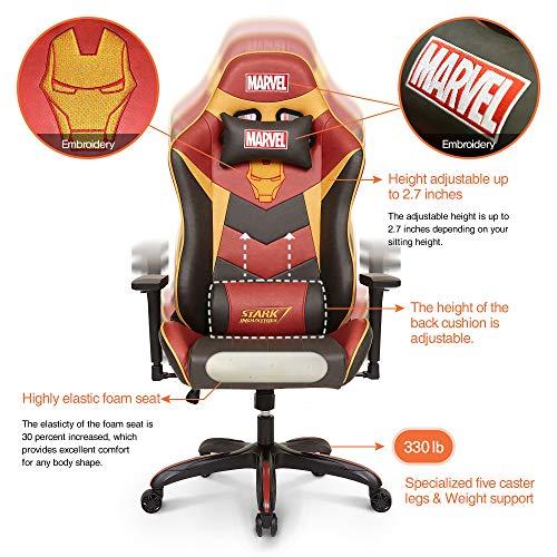 Licensed Marvel Avengers Iron Man Superhero Ergonomic High