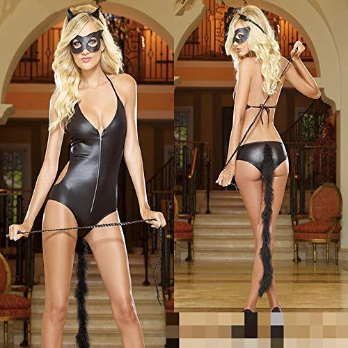 Adulto Wet Xsqr Halloween Stretti Catwoman Body Clubwear Costume Tuta Look wvCvq