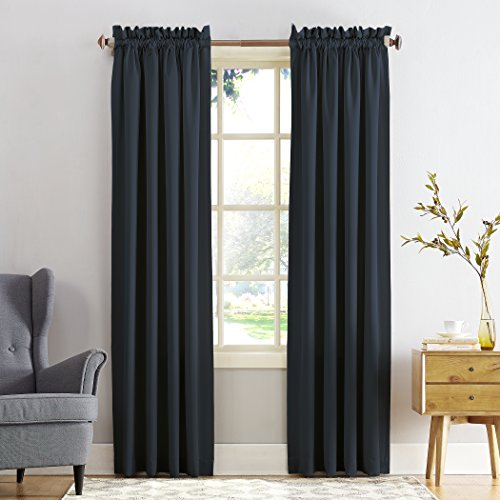 Sun Zero Barrow Energy Efficient Rod Pocket Curtain Panel...