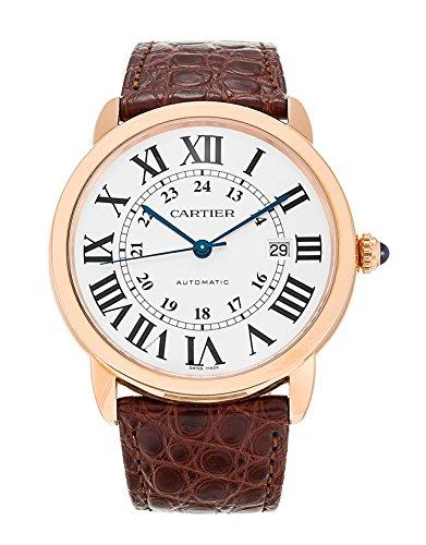 Cartier Ronde Solo de Cartier XL Automatic Silver Dial 18 kt Rose Gold Mens Watch W6701009