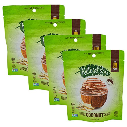 Natural Sins Baked Certified Kosher Crispy Coconut Chips 1 oz 4 pack