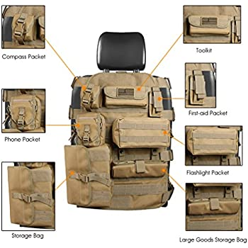 Amazon Com Smittybilt 5661024 Gear Tan Front Seat Cover
