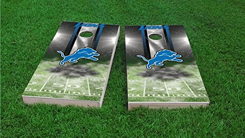 Tailgate Pro's Detroit Home Field Cornhole Boards, ACA Corn Hole Set, Comes with 2 Boards and 8 All Weather Bags