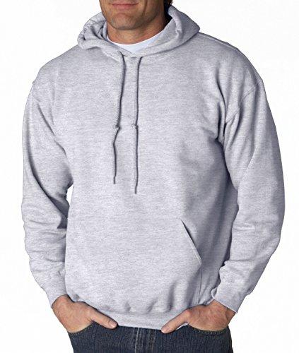 Gildan Big Boys' Heavy Blend Rib Knit Hooded Pocket Sweatshirt, Medium, Ash