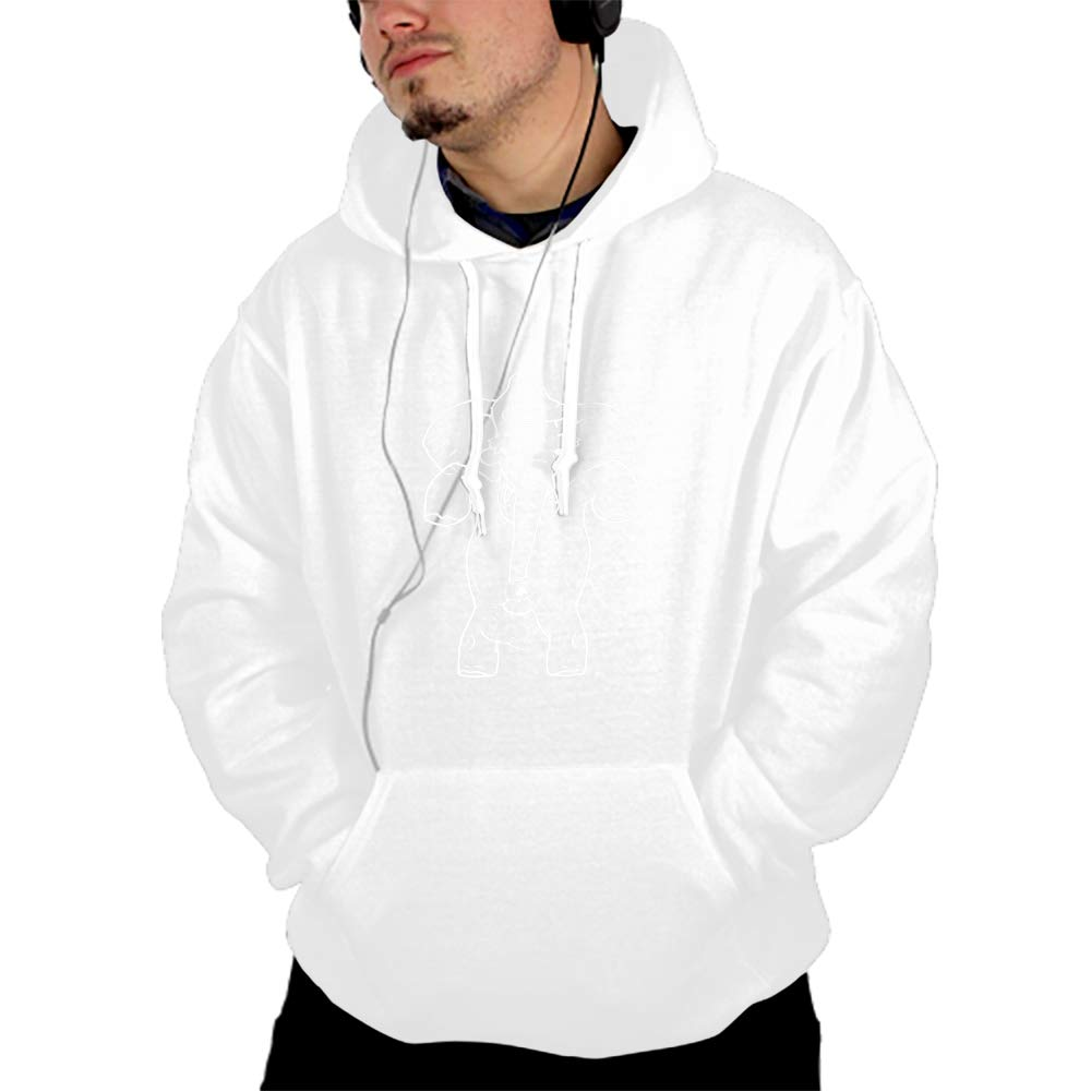 PANGERA Mens Womens Hooded Sweatshirt Realistic 3D Print Halloween Castle Pullover Hoodie with Big Pockets