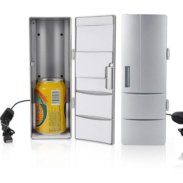 Qiterr Mini refrigerador, refrigerador Compacto USB Latas del ...