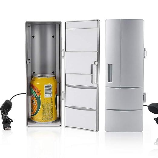 Wandisy Mini refrigerador Compacto, USB Nevera Congelador Latas ...