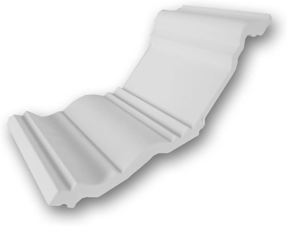 "Orac Decor C382 High Density Polyurethane Crown Moulding, Primed White. 4"" Sample Piece"