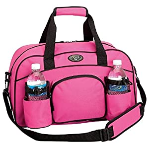Pink Sports Duffle Bag Yoga Tote Gym Workout Carry On Water Bottle Holder Travel