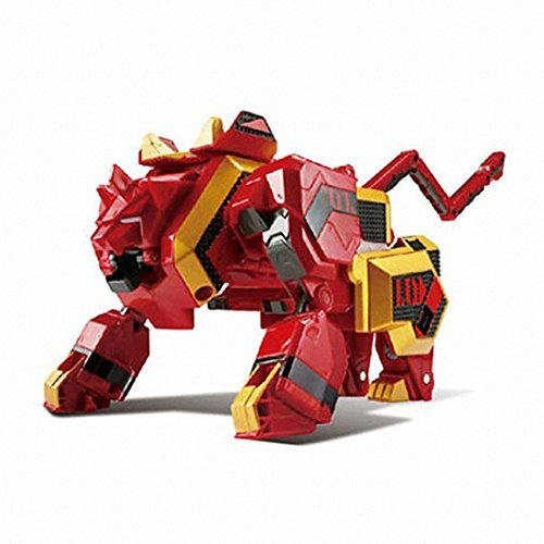 Geo Mecha Beast Guardian LEO KHAN Transformer Robot Lion Toy Action Figure by YOUNG TOYS (Image #2)