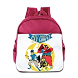 XJBD Custom Cool Cartoon Game Poster Teenager School Bag For 1-6 Years Old Pink