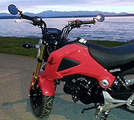 i5 Black Handle Bar End Mirrors for Honda Grom