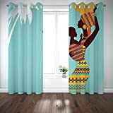 Best Warner Bros. In Babies - SCOCICI Grommet Satin Window Curtains Drapes [ Afro Review