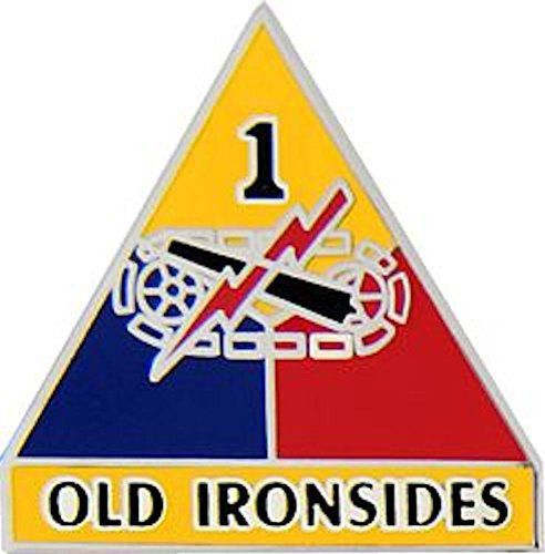1st Armored Division Small Hat Pin (Armored Division Small Hat Pin)