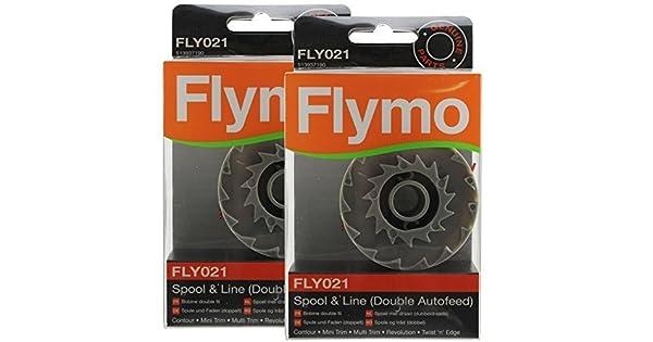 Amazon.com: Flymo revolución 2500 Desbrozadora Bobina E Hilo ...