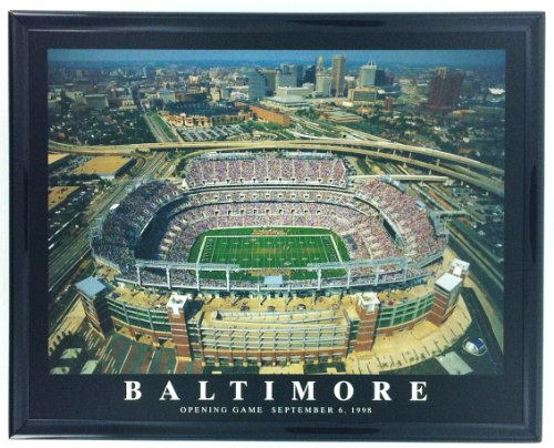 Football Baltimore Ravens Stadium Opening Day Print Artwork Framed F57502A