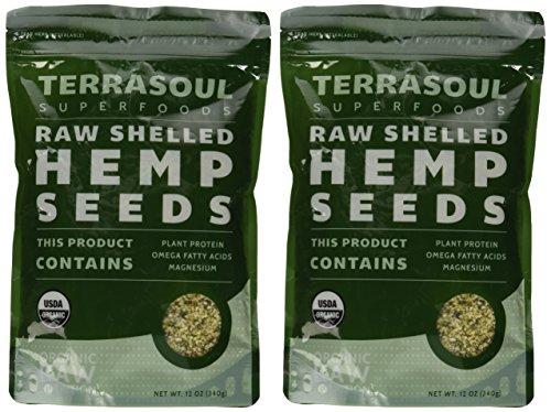 Terrasoul Superfoods Organic Hemp Seeds (Shelled), 24-ounce