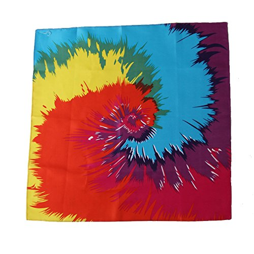 Funky Tie-Dyed Bandana Party Accessory (1 count)