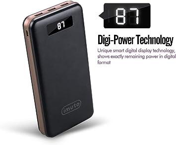 imuto batería Externa Ultra Alta Capacidad Power Banco de 3 ...